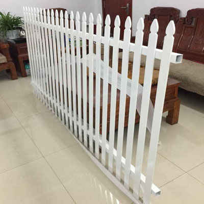 White Aluminum Spear Top Fencing