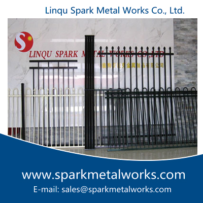 Spain black aluminum fence, Arch Style Fence China Supplier