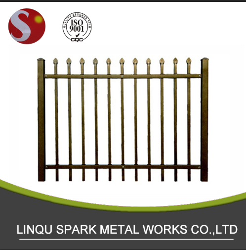 Aluminium or galvanized steel metal garden picket fence panels