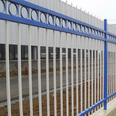 Galvanized metal fencing