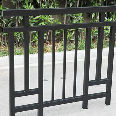 Metal picket fencing
